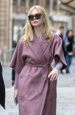 ELLE FANNING Out and About in Paris 03/02/2019