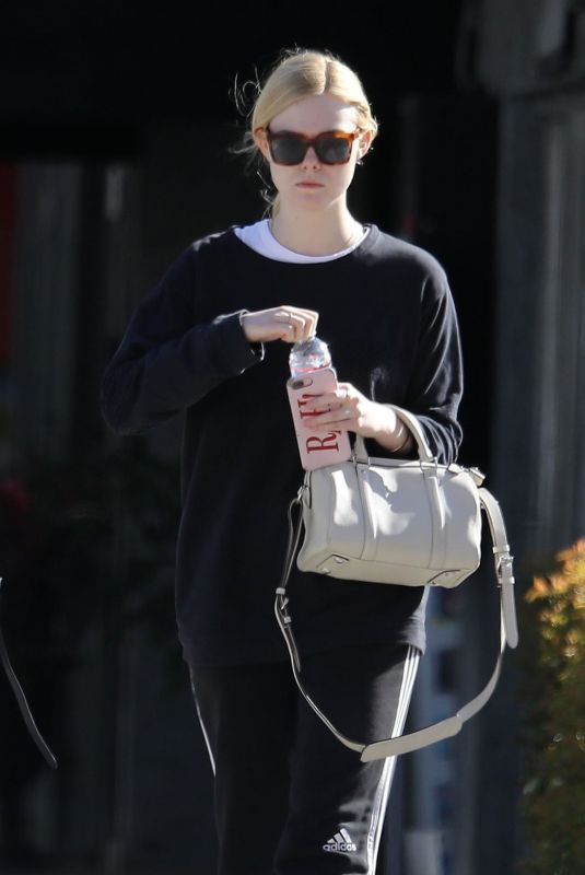 ELLE FANNING Out in Los Angeles 03/07/2019