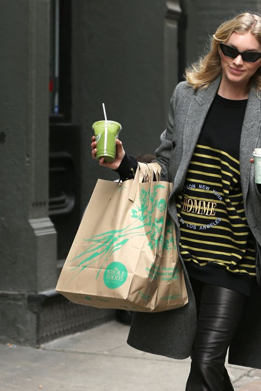 ELSA HOSK Out Shopping in New York 03/24/2019