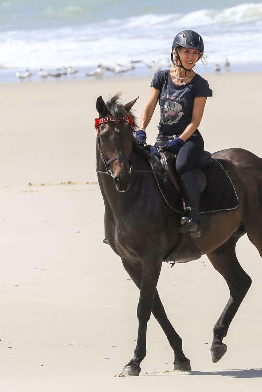 ELSA PATAKY Riding a Horse on the Beach in Byron Bay 03/19/2019