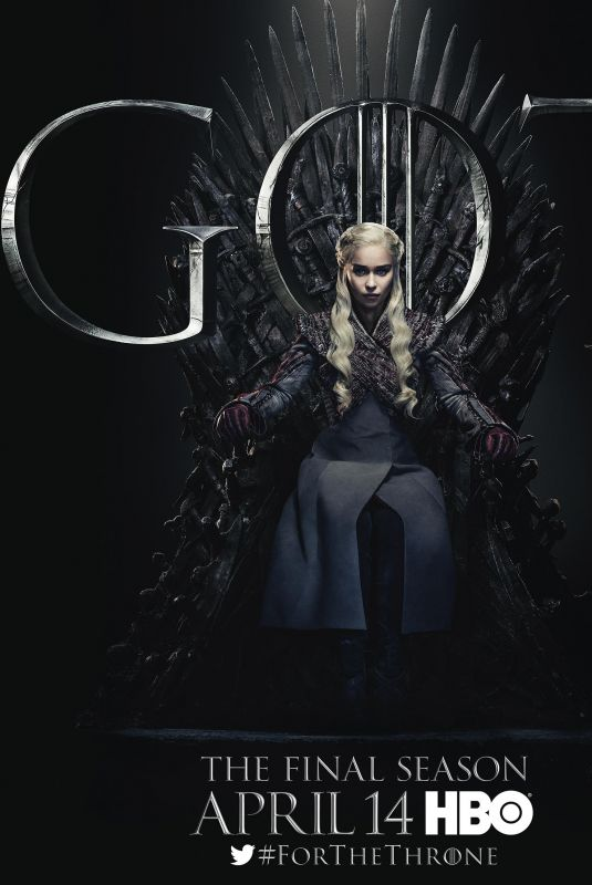 EMILIA CLARKE - Game of Thrones, Season 8 Promos