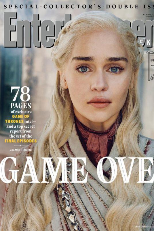 EMILIA CLARKE in Entertainment Weekly Magazine, March 2019