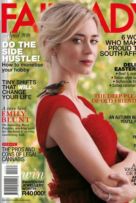 EMILY BLUNT in Fairlady Magazine, April 2019