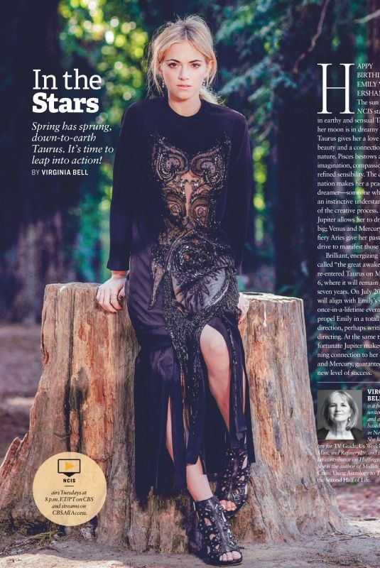 EMIY WICKERSHAM in CBS Watch Magazine March/April 2019