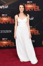 EMMA LAHANA at Captain Marvel Premiere in Hollywood 03/04/2019