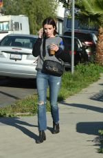 EMMA ROBERTS in Ripped Jeans Out in Los Angeles 02/28/2019