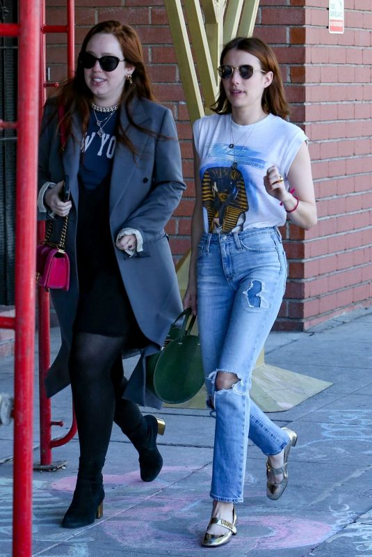 EMMA ROBERTS Out for Lunch in Los Angeles 03/17/2019