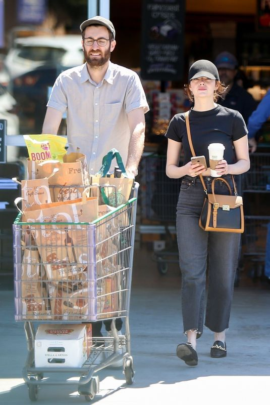 EMMA STONE and Dave McCary Out Shopping in Los Angeles 03/30/2019