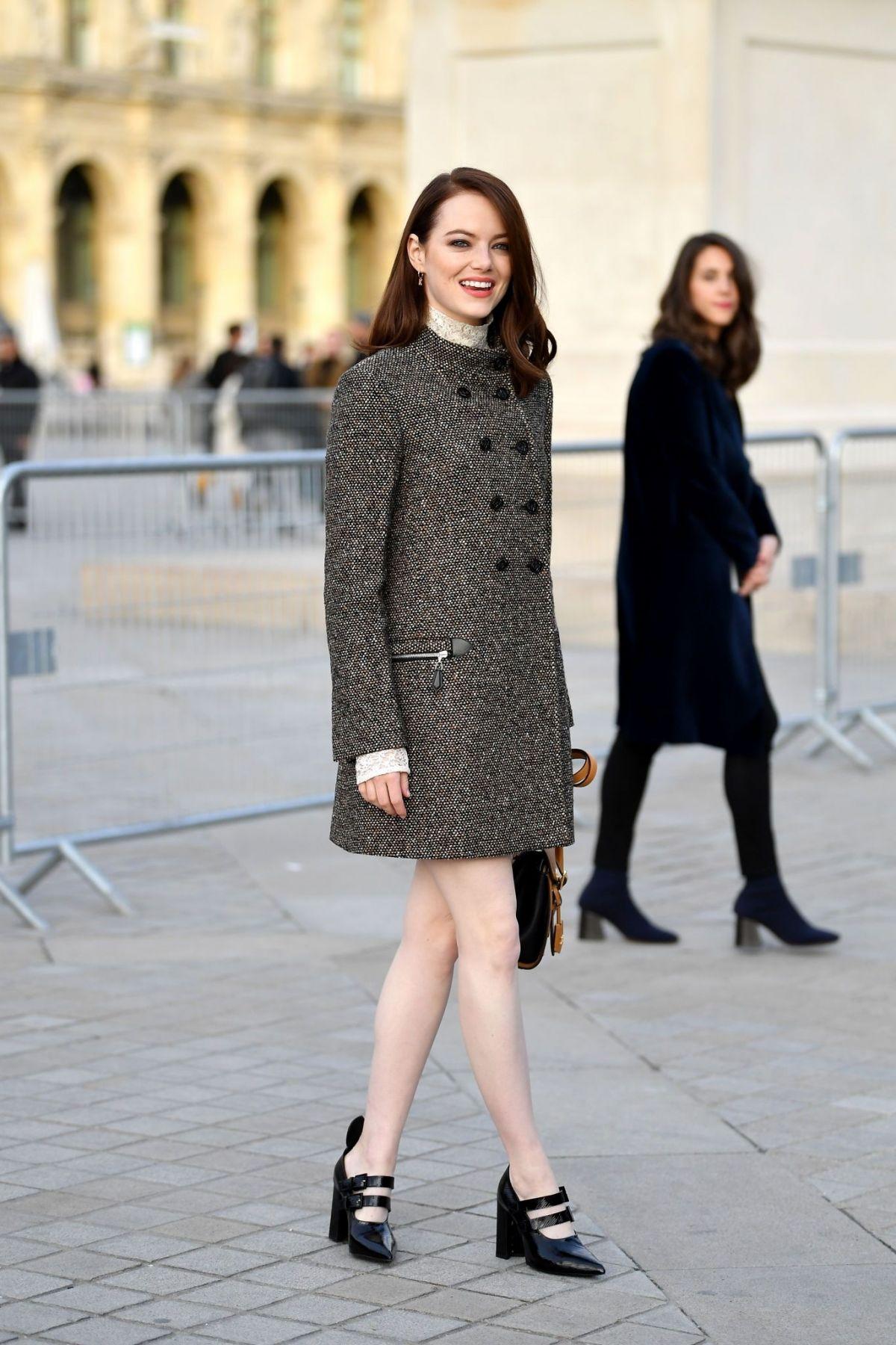 Emma Stone At Louis Vuitton Show At Paris Fashion Week 03 05 2019