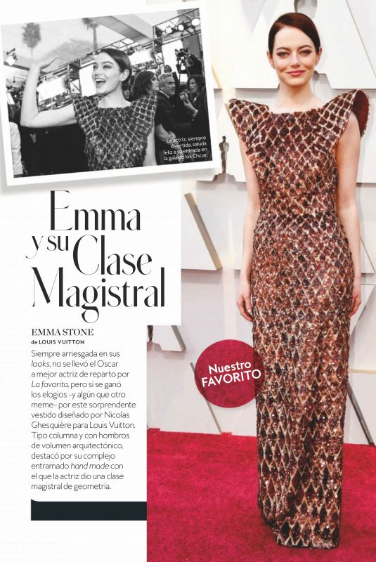 EMMA STONE in Instyle Magazine, Spain April 2019