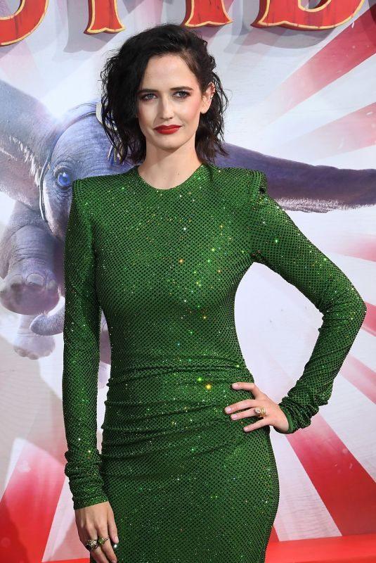 EVA GREEN at Dumbo Premiere in London 03/21/2019