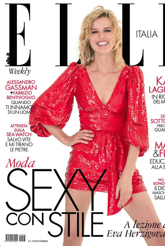 EVA HERZIGOVA in Elle Magazine, Italy March 2019