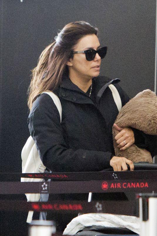 EVA LONGORIA at Pearson International Airport in Toronto 03/09/2019
