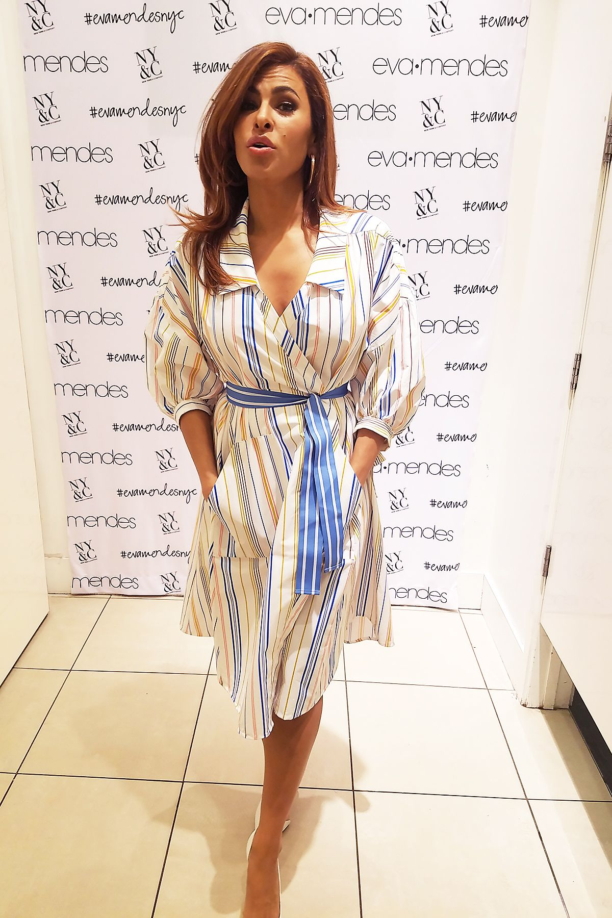 EVA MENDES at Her Clothing Line Collection Launch in Los ...