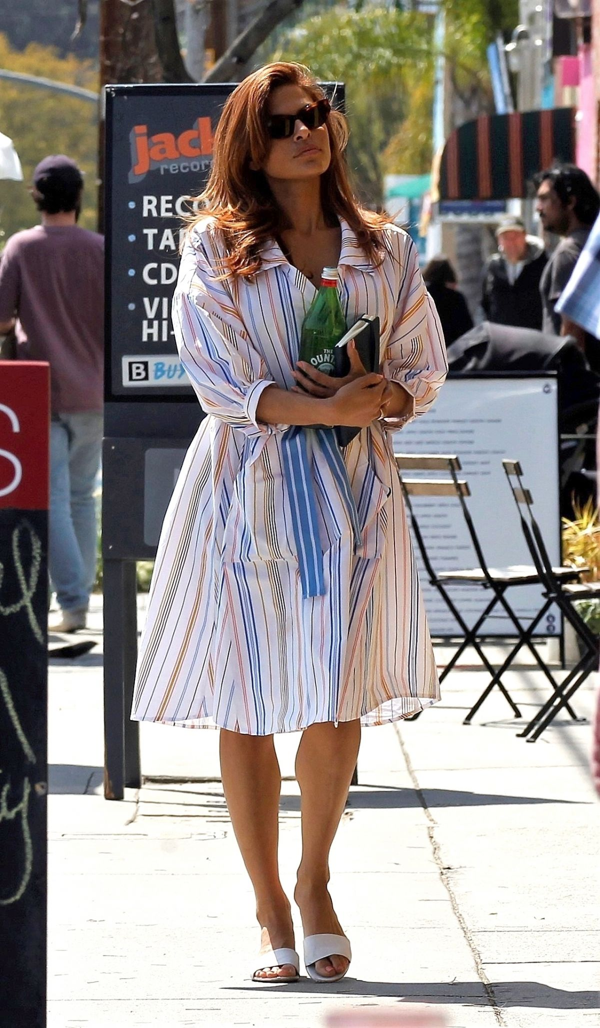 EVA MENDES Out and About in Los Angeles 03/25/2019 ...