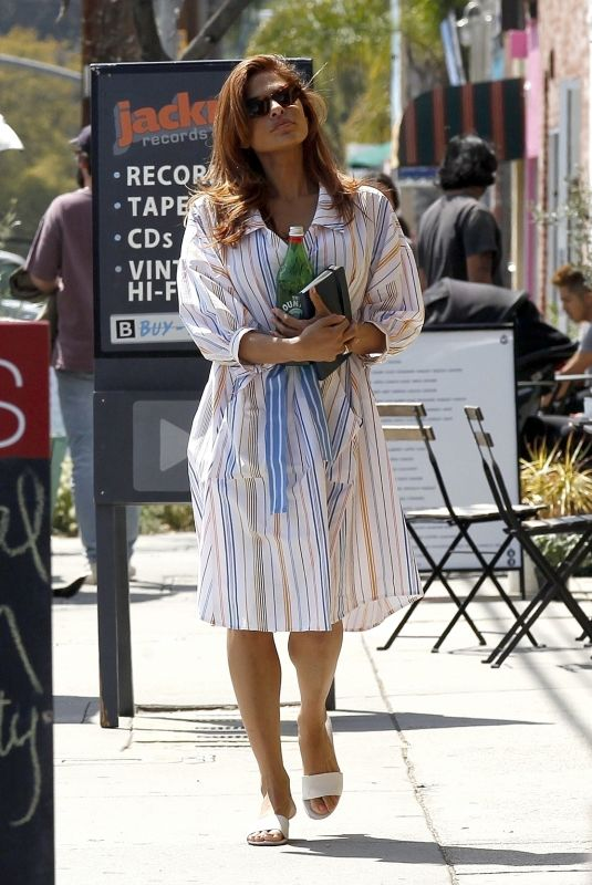 EVA MENDES Out and About in Los Angeles 03/25/2019