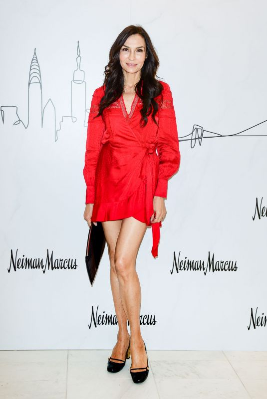 FAMKE JANSSEN at Neiman Marcus Hudson Yards Party in New York 03/14/2019