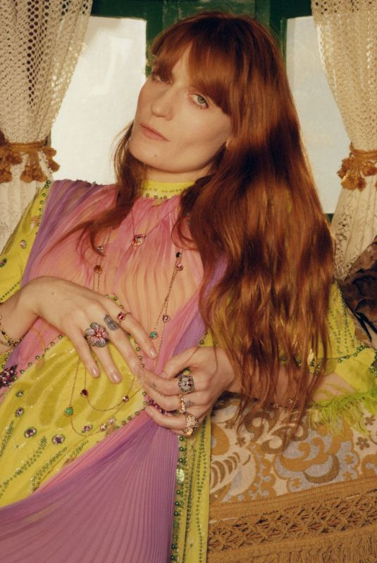 FLORENCE WELCH og Gucci Jewelry 2019 Campaign