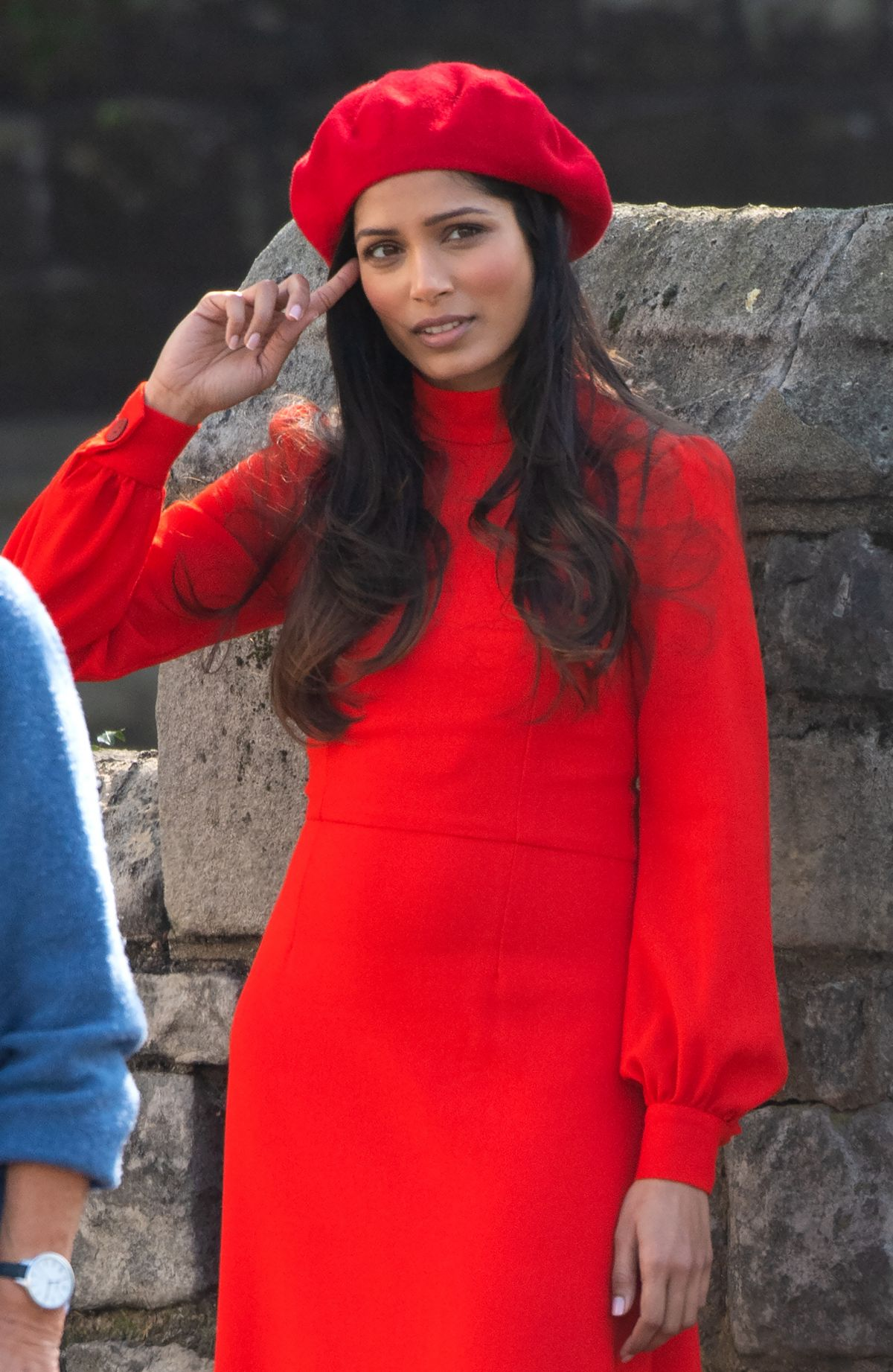 FREIDA PINTO on the Set of a Photoshoot in Pimrose Hill 03 ...