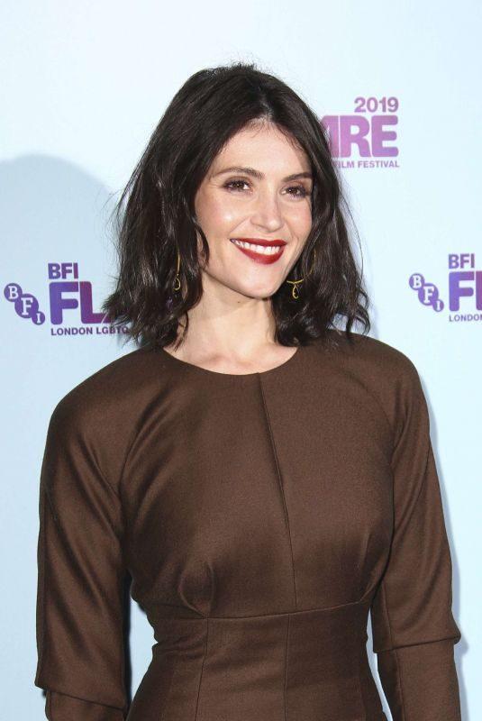 GEMMA ARTERTON at Vita & Virginia Premiere and Opening Night Gala of 33rd BFI Flare Film Festival in London 03/21/2019