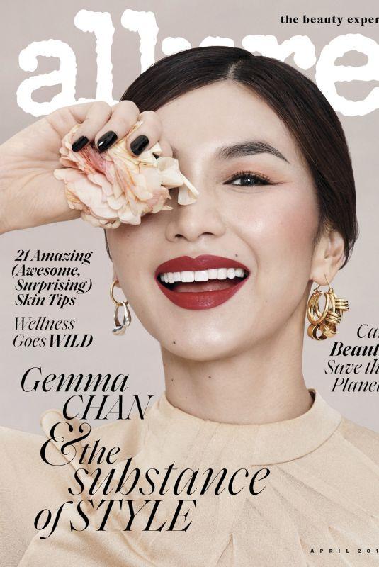 GEMMA CHAN in Allure Magazine, April 2019