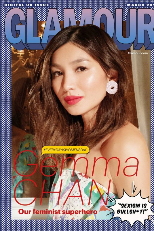 GEMMA CHAN in Glamour Magazine, UK March 2019