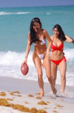 GEMMA LEE FARRELL amd PAULA SUAREZ in Bikinis at a Beach in Miami 03/21/2019
