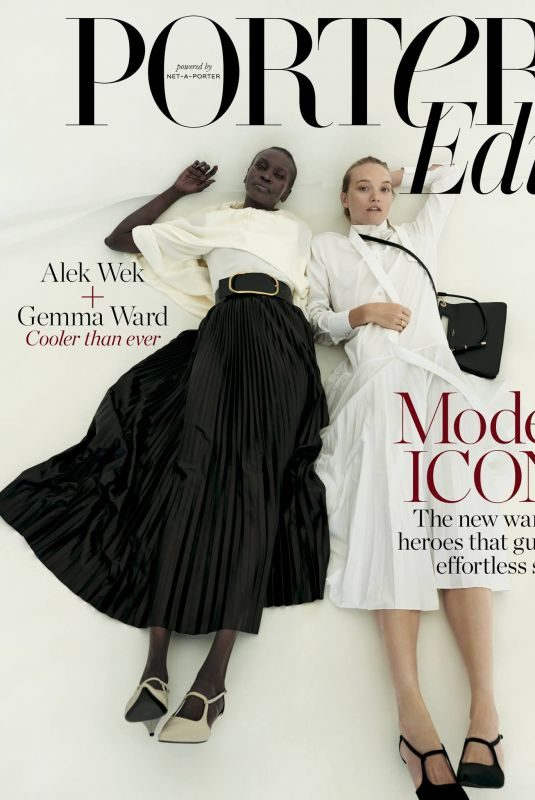 GEMMA WARD and ALEK WEK for Porteredit, March 2019