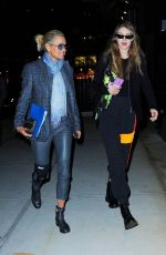 GIGI and YOLANDA HADID Out for Dinner in New York 03/29/2019