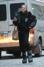 GIGI HADID Arrives at a Photoshoot in New York 03/14/2019