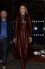 GIGI HADID Arrives at Tommy Hilfiger Fashion Show at PFW in Paris 03/02/2019