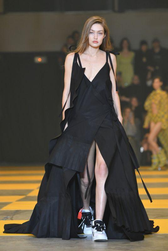 GIGI HADID at Off-white Runway Show at Paris Fashion Week 02/28/2019