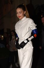 GIGI HADID Heading to Louis Vuitton Party in Paris 03/01/2019
