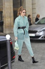 GIGI HADID Leaves Her Hotel in Paris 02/28/2019