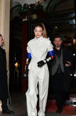 GIGI HADID Leaves Royal Monceau Hotel in Paris 03/01/2019