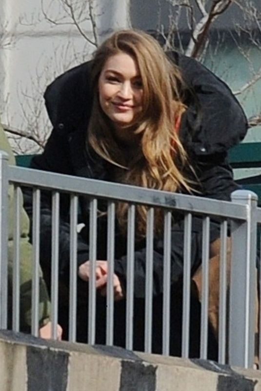 GIGI HADID on the Set of a Photoshoot in New York 03/08/2019