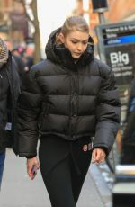 GIGI HADID on the Set of Maybelline Photoshoot in New York 03/07/2019