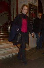 GILLIAN ANDERSON Leaves a Theatre in London 03/13/2019