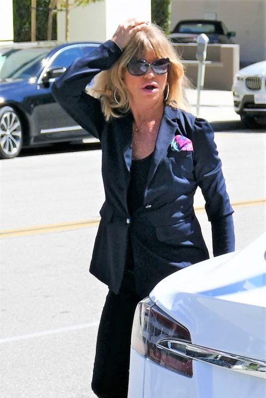 GOLDIE HAWN Out for Lunch in Los Angeles 03/14/2019