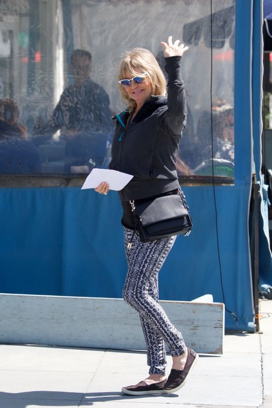 GOLDIE HAWN Out for Lunch in Los Angeles 03/29/2019