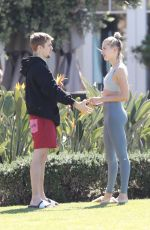 HAILEY and JUSTIN BIEBER Out in Laguna Beach 03/16/2019