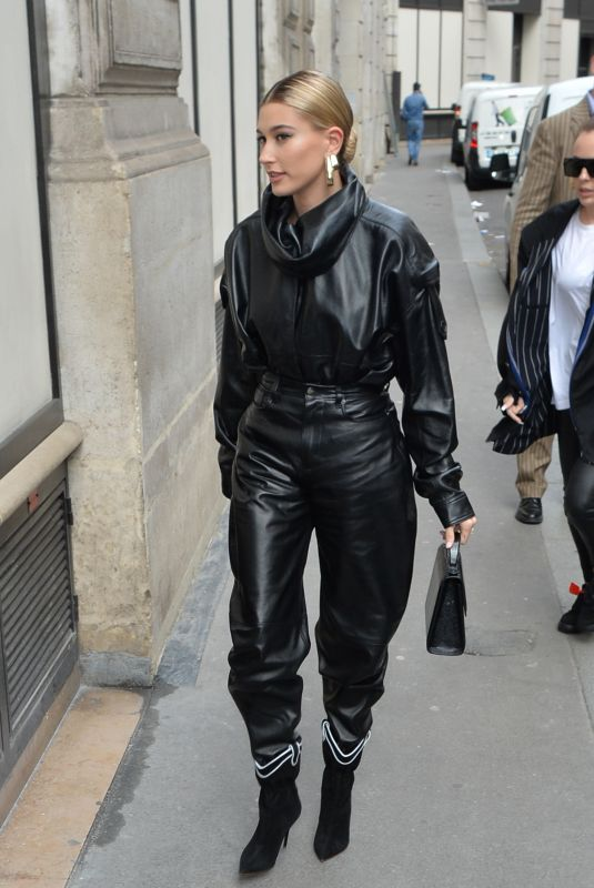 HAILEY BIEBER Arrives at a Fitting for Louis Vuitton Show in Paris 03/03/2019