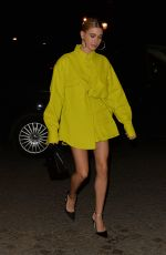 HAILEY BIEBER Arrives at CFDA American in Paris Cocktail with Vogue in Paris 03/03/2019