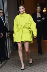 HAILEY BIEBER Heading to Balmain in Paris 03/03/2019