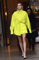 HAILEY BIEBER Leaves Balmain Store in Paris 03/03/2019