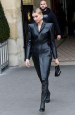 HAILEY BIEBER Leaves Her Hotel in Paris 03/03/2019