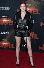 HALSEY at Captain Marvel Premiere in Hollywood 03/04/2019
