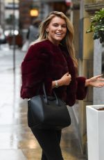 HAYLEY HUGHES Heading to Rosso Restaurant in Manchester 03/08/2019