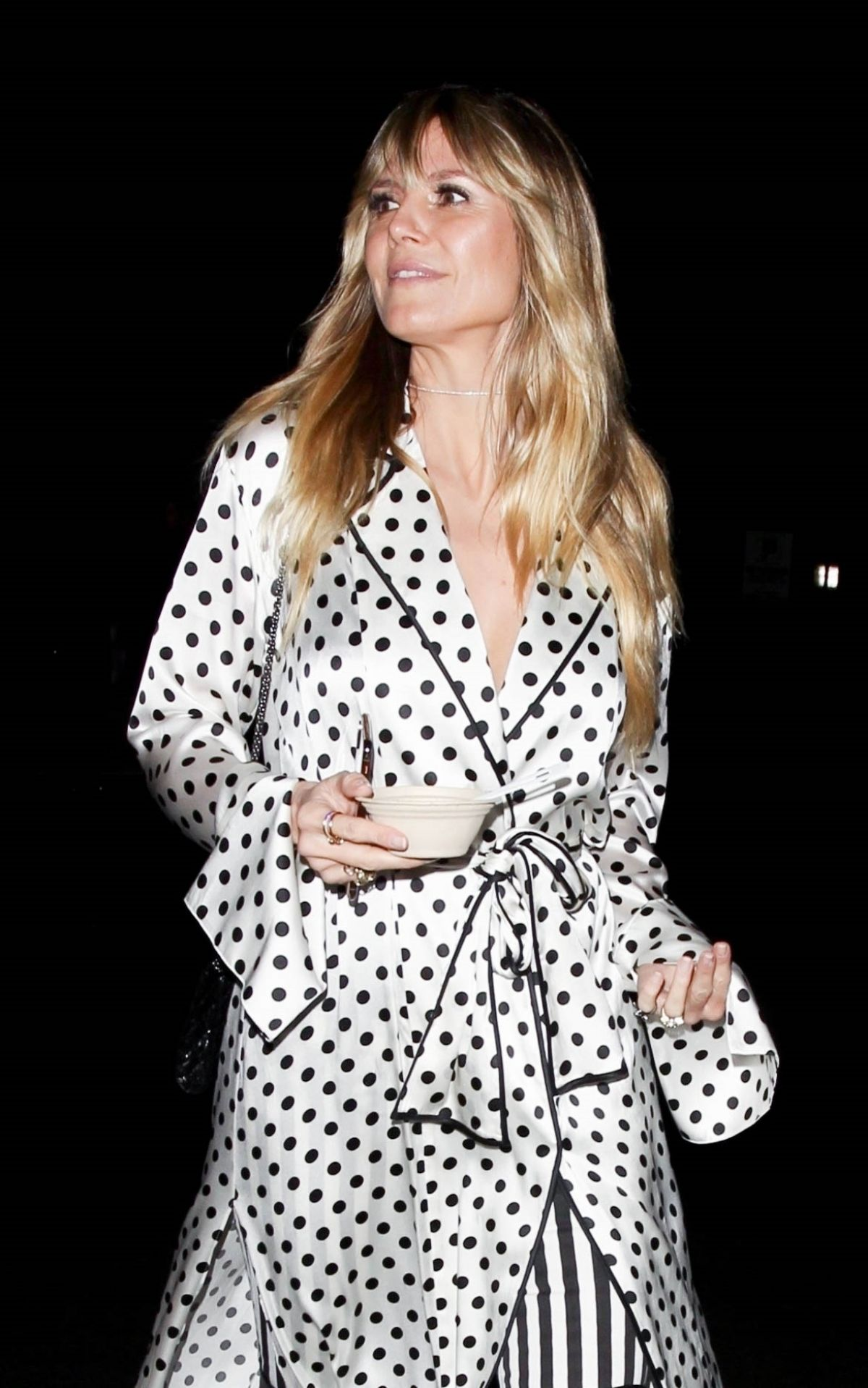All The Girls Standing In The Line For The Bathroom: HEIDI KLUM Leaves Billie Eilish Album Release Party In Los