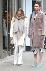 HILARY DUFF and SUTTON FOSTER on the Set of Younger in New York 02/27/2019